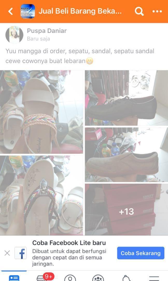 Sepatu sandal cewe cowo