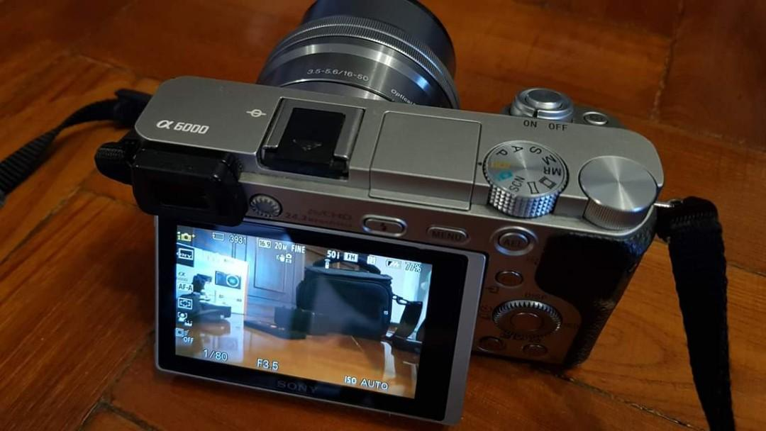 Sony Alpha 6000 large set with lens and more!