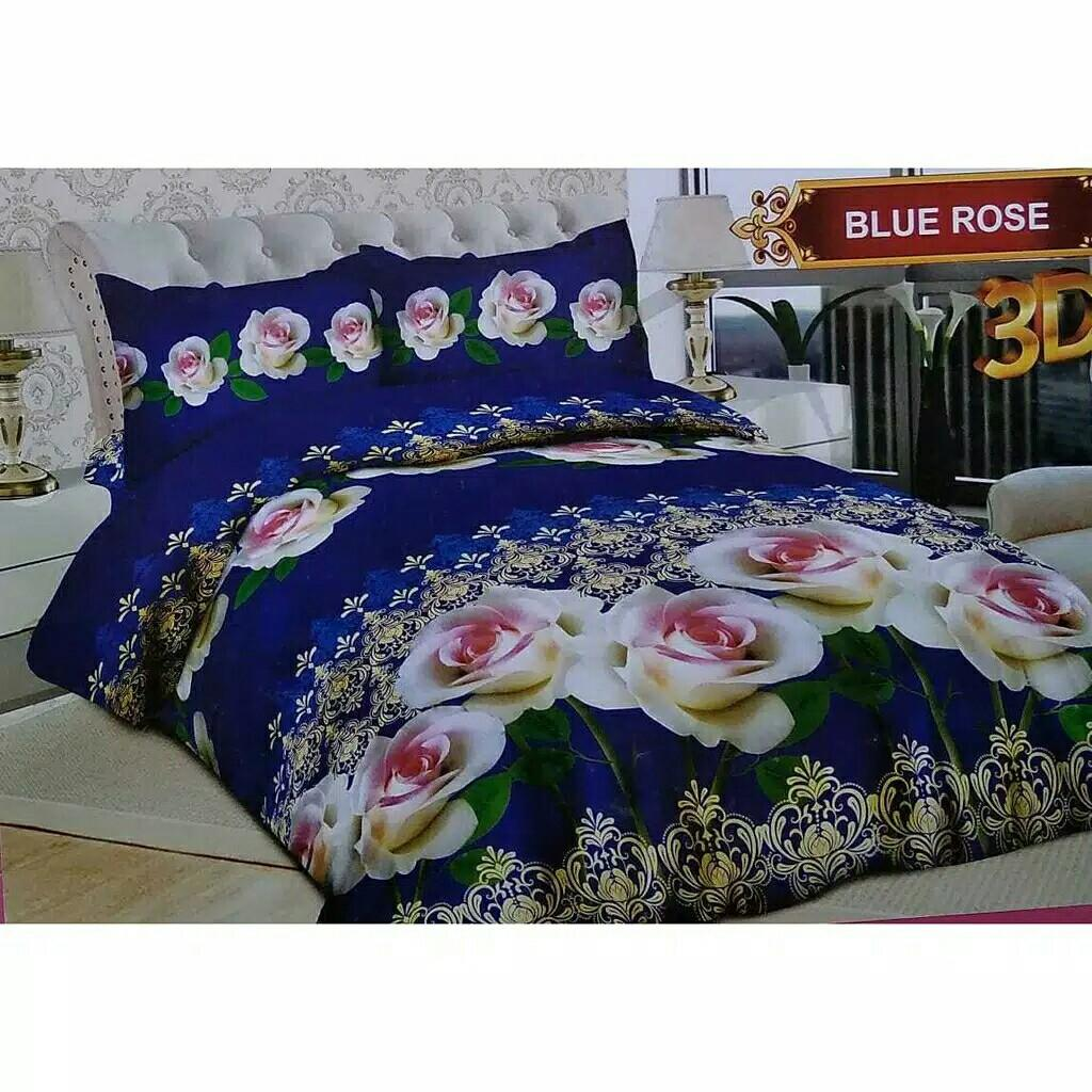 Sprei Bonita Ukuran 160x200 Motif Blue Rose