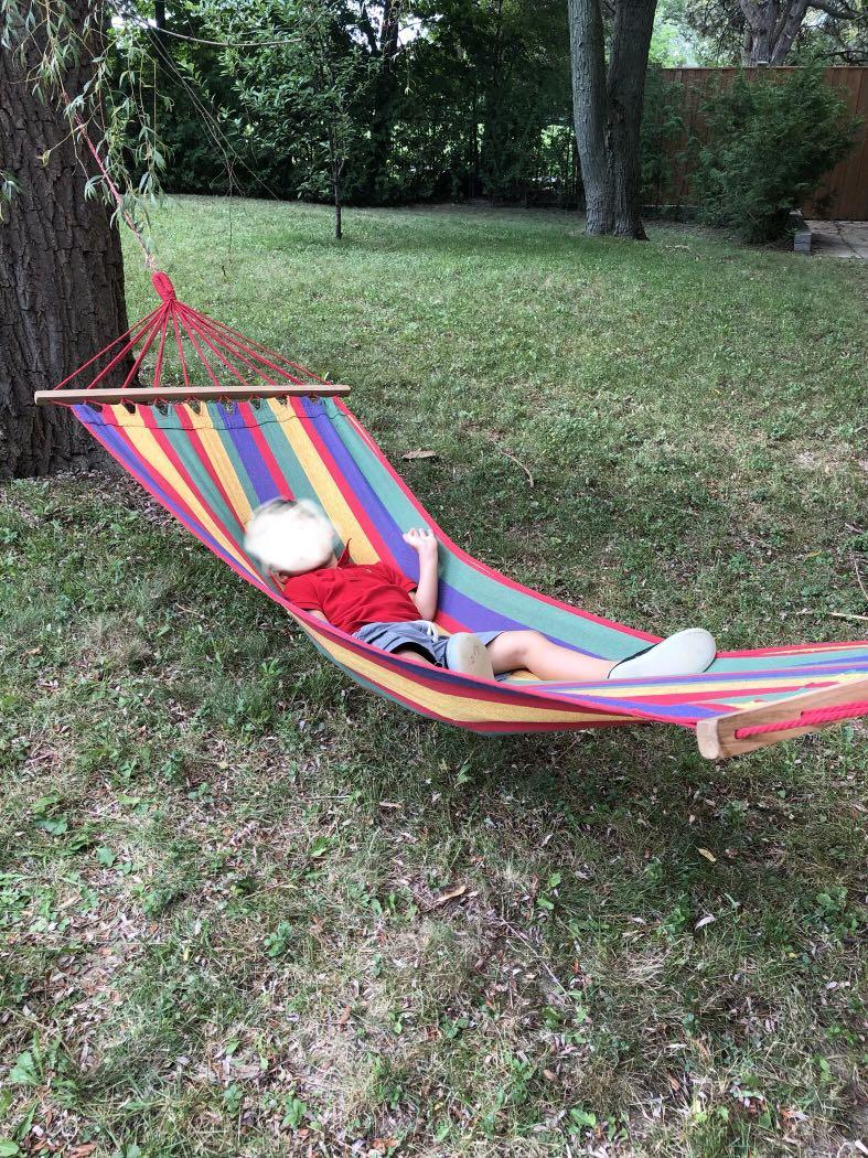 Stylish hammock - brand new. Bought from the French Caribbean