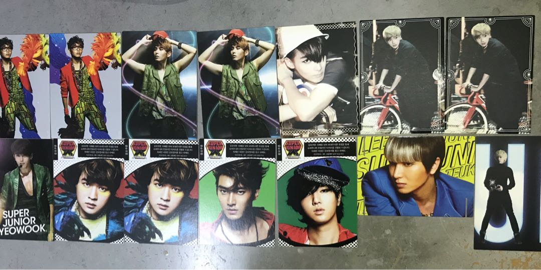 Super Junior Official Star Collection photocard, (incomplete) RM3/each