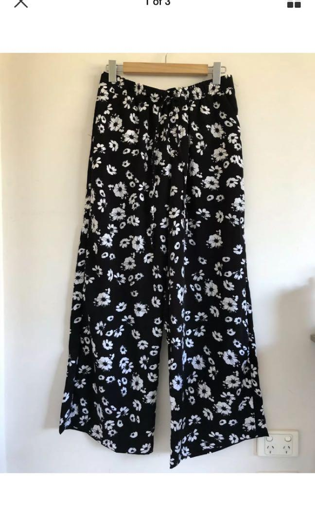Target collection floral wide leg high waist pants