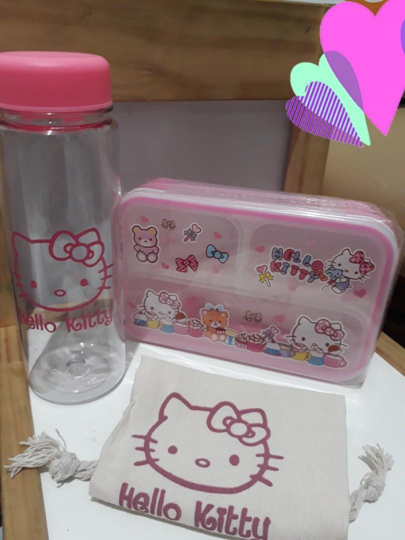 Tempat Makan dan Botol Minum Hello Kitty