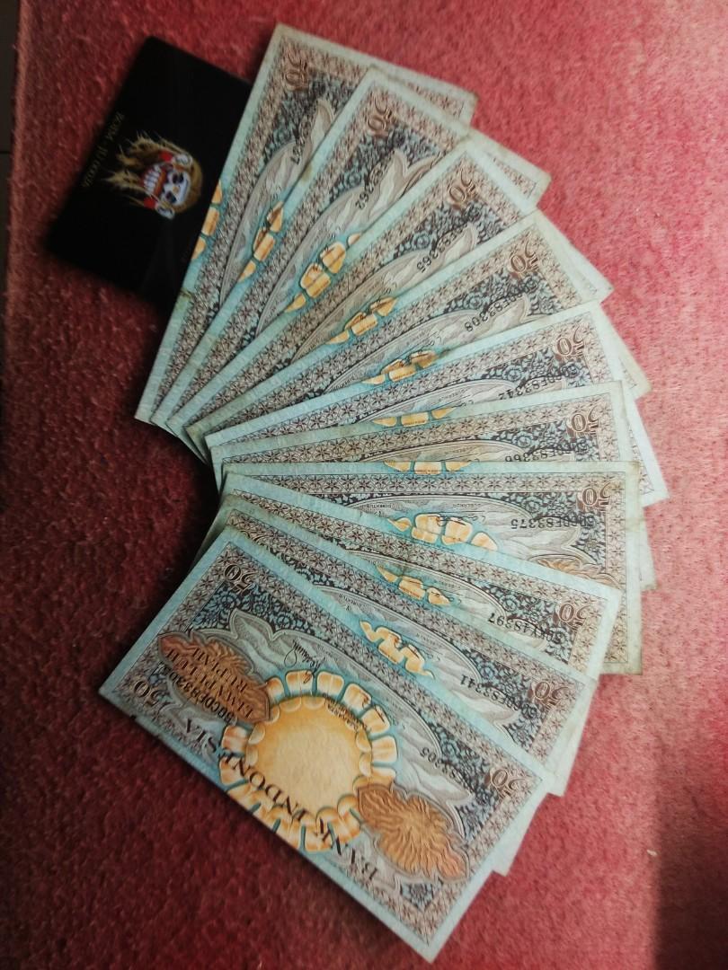 Uang kuno 50 seri bunga