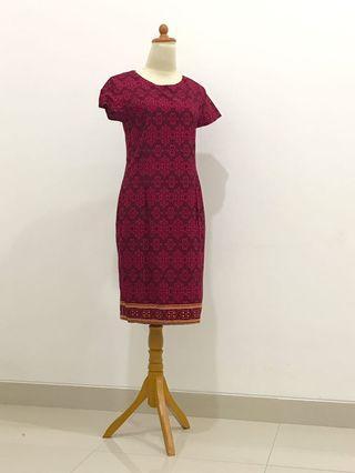Dress Batik Red