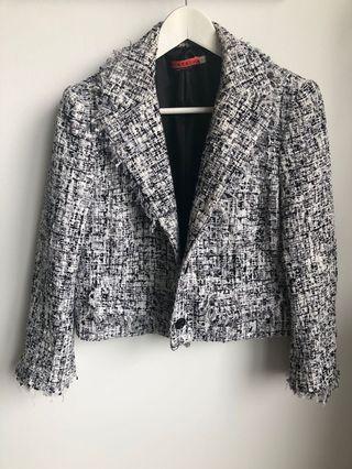 Alice + Olivia Tweed Blazer Jacket M