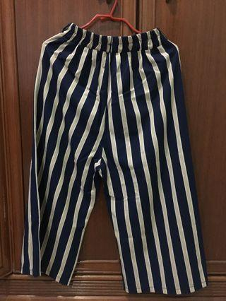 Straight Striped Pants