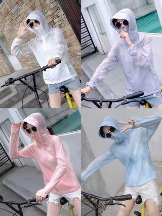 夏日輕量防曬外套口罩式 領口防曬外套 騎車外套 騎摩托車外套 騎機車外套 輕量休閒機能外套