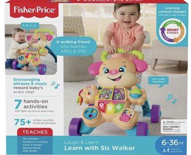 🚚 Fisher-Price Laugh & Learn Smart Stages Learn with Puppy Walker