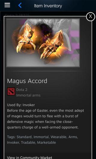 Dota 2 Invoker Magnus accord