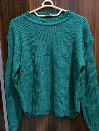 #mauthr green knitted sweater