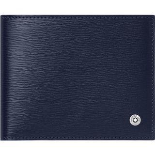 🚚 萬寶龍 MONTBLANC 型號:118653 4810都市俊彥系列六卡皮夾(藍色)
