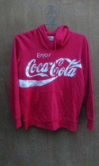 Coca Cola Pullover Hoodie Sweater size S #mauthr