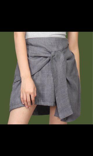Gray Wrap Skirt / Rok Mini Abu
