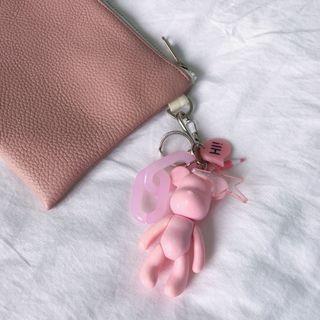 🚚 BOMGOM Pink Bear Keyring Charm