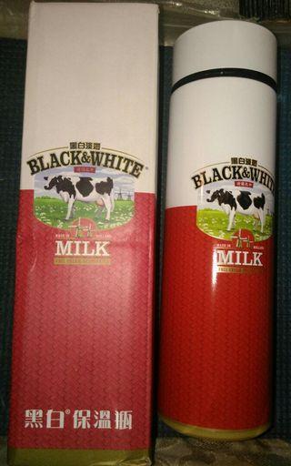黑白淡奶70周年 (限量版) 保溫水壺 - 全新有盒