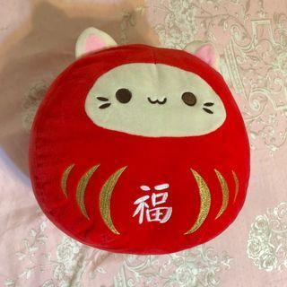 🚚 日本 貓咪 祈福娃娃 不倒翁 娃娃 玩偶 抱枕