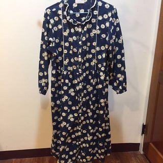 🚚 日系寬鬆雛菊洋裝