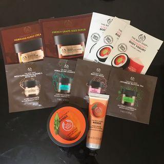 The Body Shop 護膚cream & body磨砂 & 身體保濕乳酪 & Mask & Hand Cream