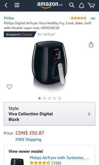 Philips Digital Airfryer - Black