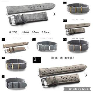 GREY LEATHER WATCH STRAPS (ALL THINGS GRAY)