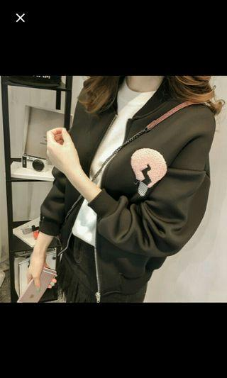 (NO INSTOCKS!)Preorder korean style ladies baseball Jacket* waiting time 15 days after payment is made *chat to buy to order