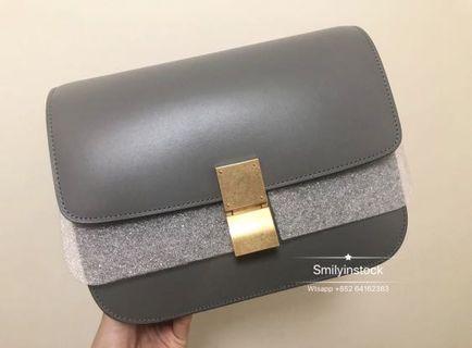 Celine Grey Box Bag M 舊logo