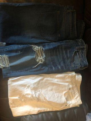 Jeans (garage + american eagle)