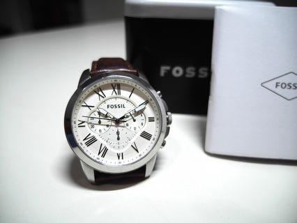 🚚 Fossil 古典簡約經典腕錶,8成新、商品定價$5200
