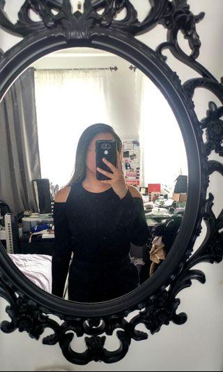 Cut out black long sleeve top from Zara