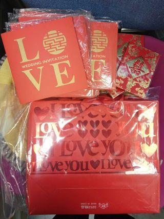 免費送出 結婚物資 利是封 紙袋 帖