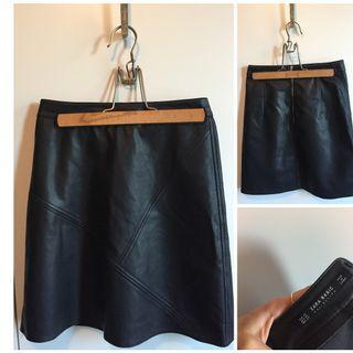 Leather Look Zara Skirt xs