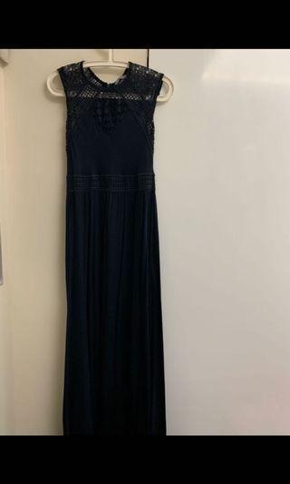 H&M Navy Long Dress
