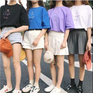 🚚 夏季韓版簡約寬鬆上衣 紫色