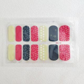 Colourful confetti nail sticker