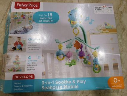 Fisher price 3-in-1 soothe and play seahorse mobile