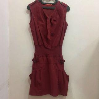 Expresso Maroon Red Dress