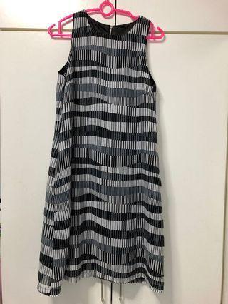 Striped office Dress