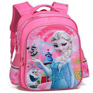Frozen Elsa Primary School Bags Backpack Pink Girl