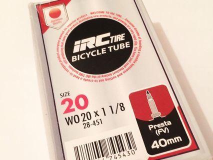 """全新 iRC 20"""" 單車內胎"""