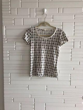 Orla Kiely X Uniqlo T-shirt ladies fitted size S