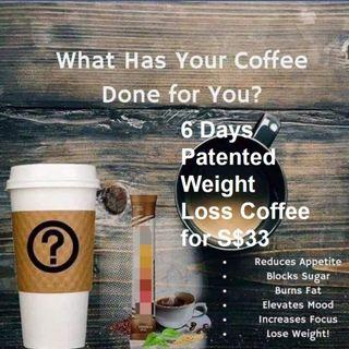 How Ordinary People Losing 3kg to 6kg in 6 days with the Patented Weight Loss Coffee at just $33!