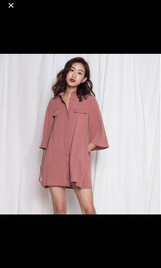 YHF Dolce Dress in Salmon Pink