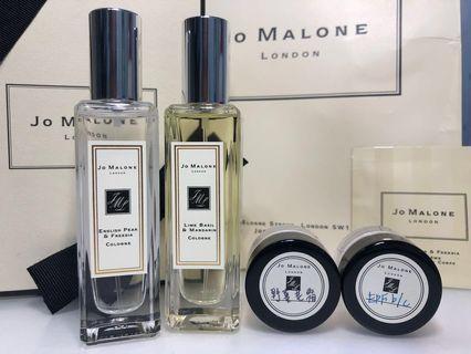 二手組合Jo MALONE青檸羅勒香水+英國梨小蒼蘭香水