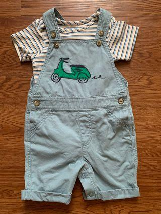 Preloved Baby Dungarees Set