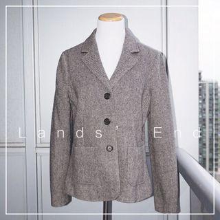 *Like New* Lands' End 100% Wool Blazer Coat Women Size 10P
