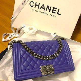 Chanel Boy Bag in Medium Blue Electrique