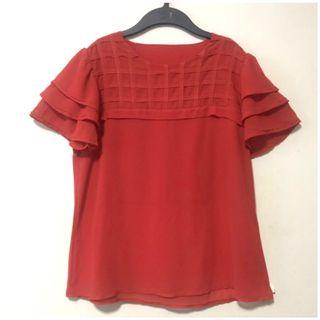 Layered Sleeves Chiffon Blouse. Size XL. Well kept in packaging.