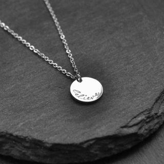 Personalised Disc Charm Necklaces