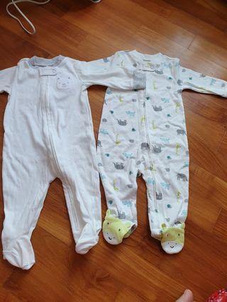 Carter's 6 month sleep suit pajamas
